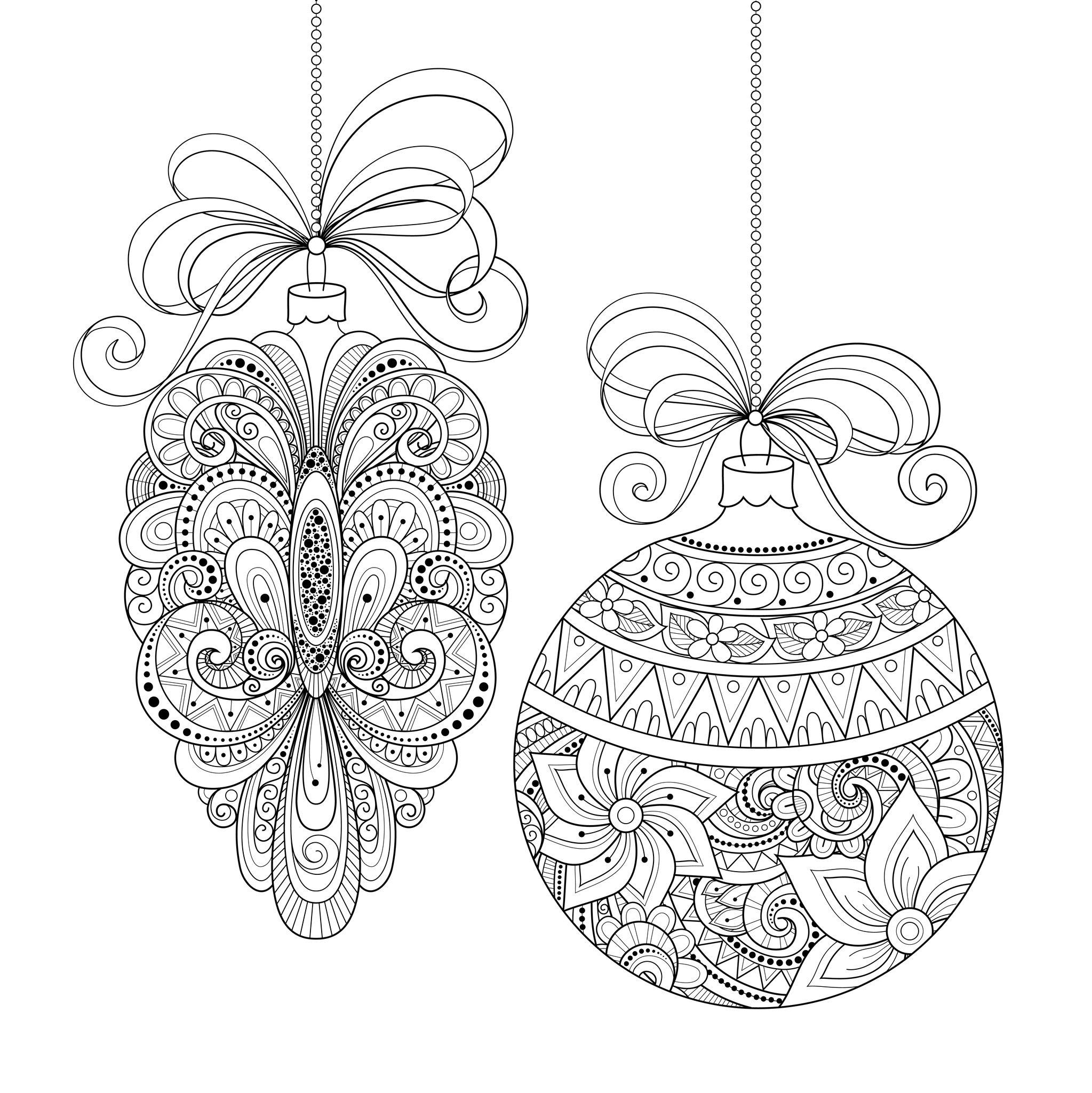 Drawn christmas ornaments christmas greeting card  ornaments make Christmas make