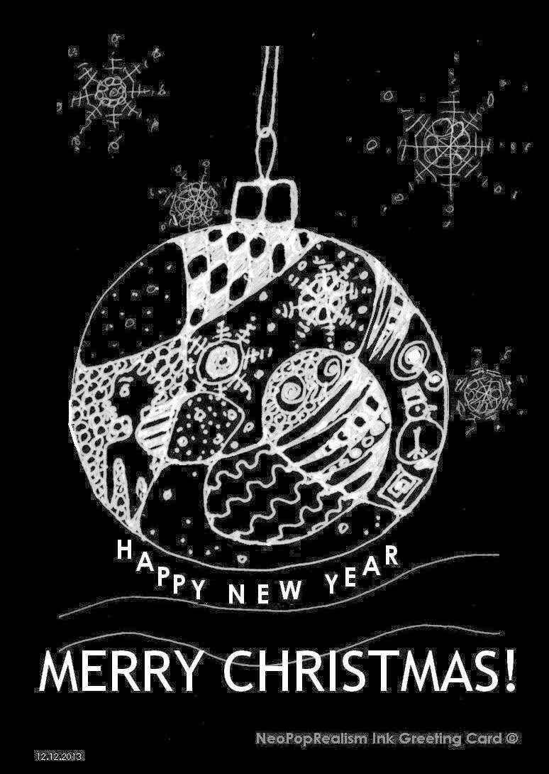 Drawn christmas ornaments christmas greeting card With all and drawings with