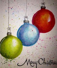 Drawn christmas ornaments christmas greeting card The • greeting black water