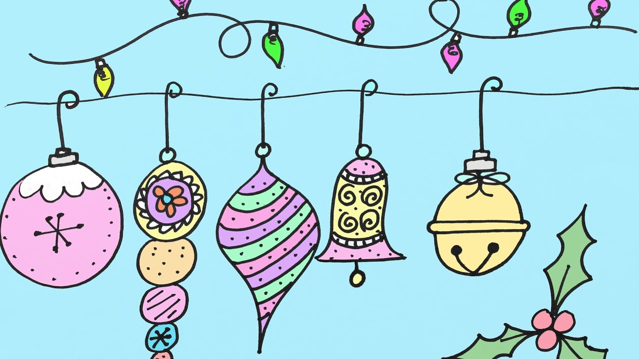 Drawn christmas ornaments christmas light By  By to Step