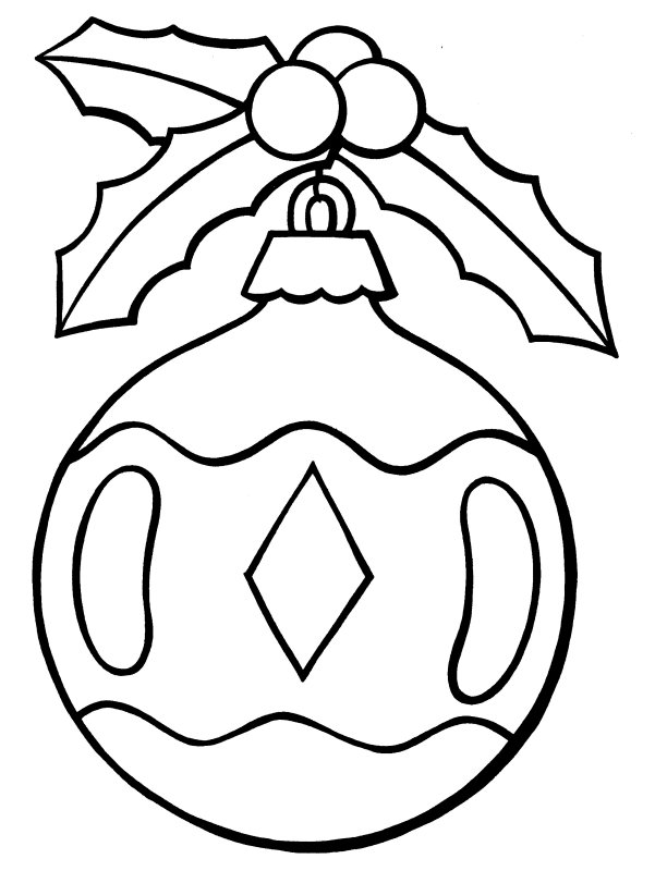 Drawn christmas ornaments christmas light – Decorations Pages Coloring Christmas