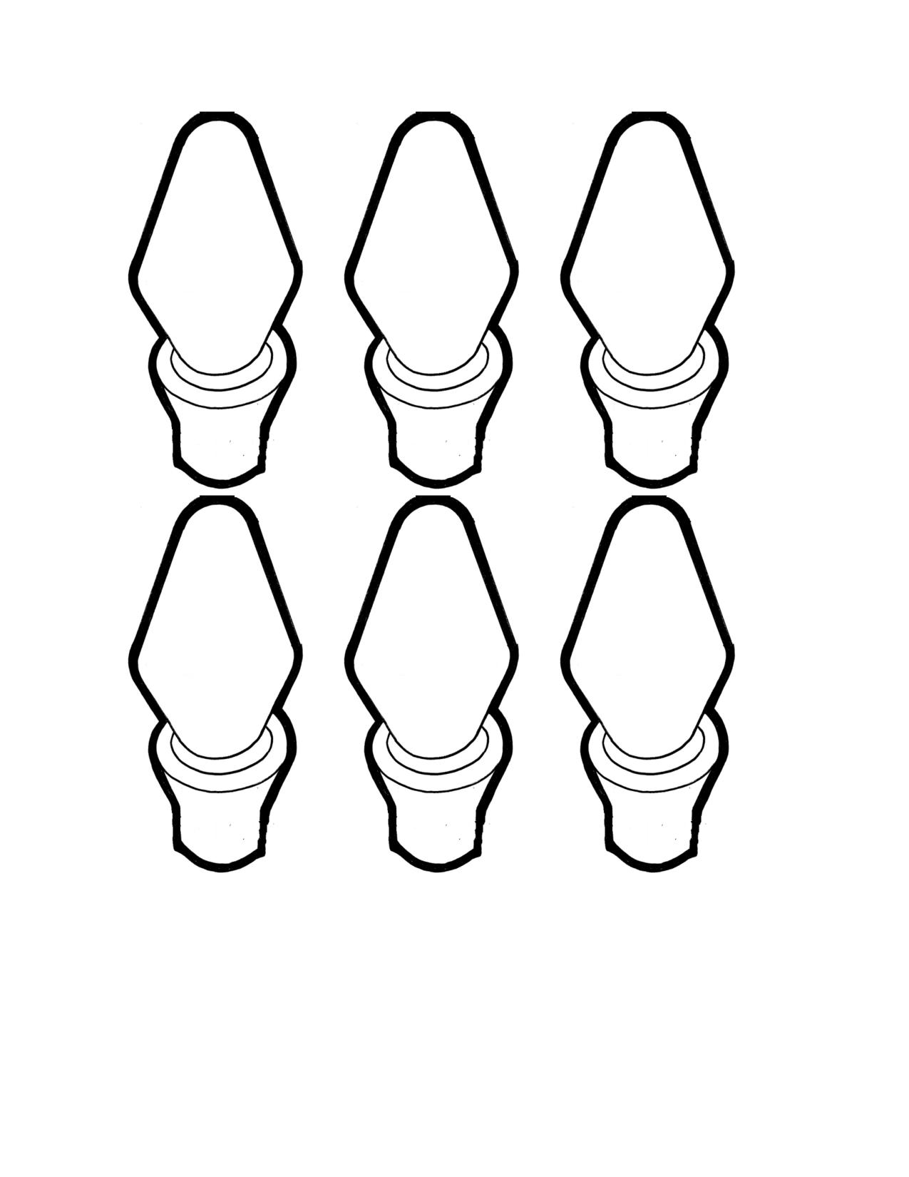 Bulb clipart here Bulb template craft templates bulb