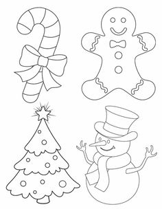 Drawn christmas ornaments color cut out Pages: Christmas activity art art