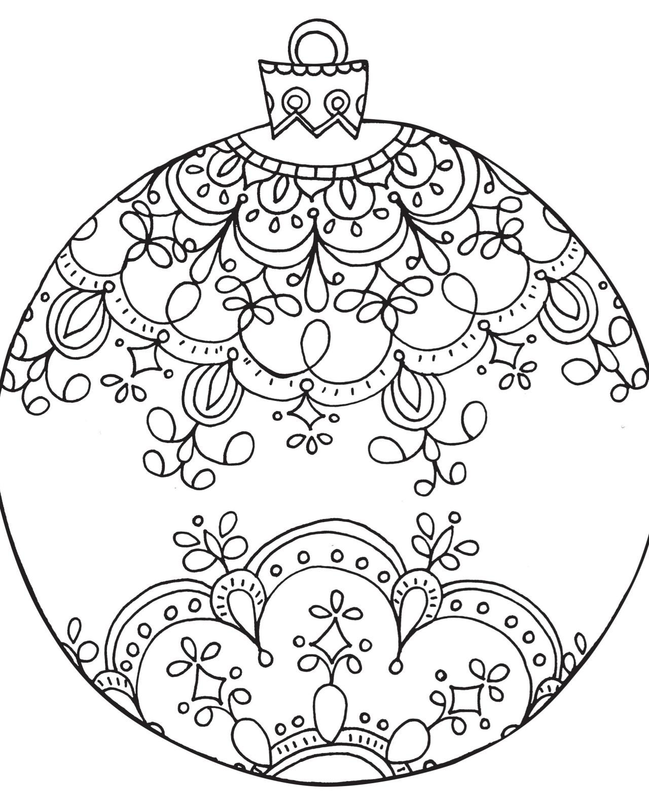 Drawn christmas ornaments color cut out Christmas Ornaments Page  For