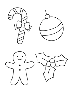Drawn christmas ornaments color cut out #14