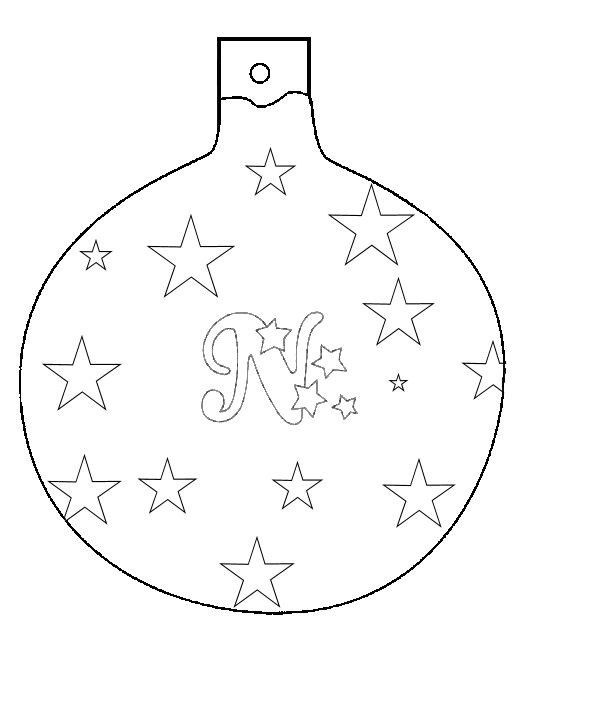 Drawn christmas ornaments color cut out Color ornament to colorings celebrate