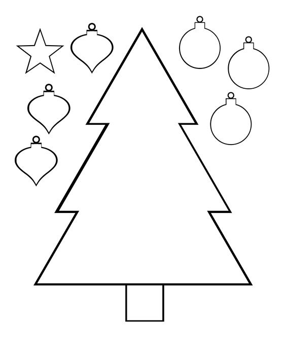 Drawn christmas ornaments color cut out Cut color and printable Choinka