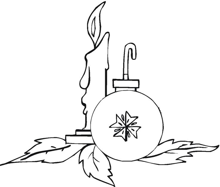 Drawn christmas ornaments coloring book Candles images & Christmas 85