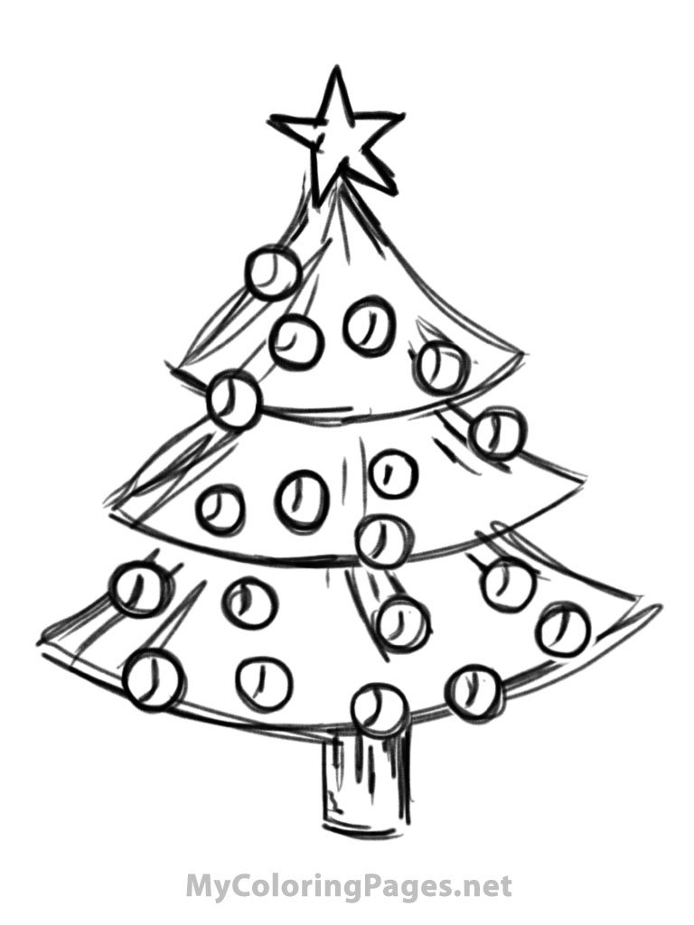 Drawn christmas ornaments coloring book And pages color Christmas color