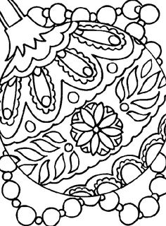 Drawn christmas ornaments coloring page Christmas Paper That's pages KidsDrawing