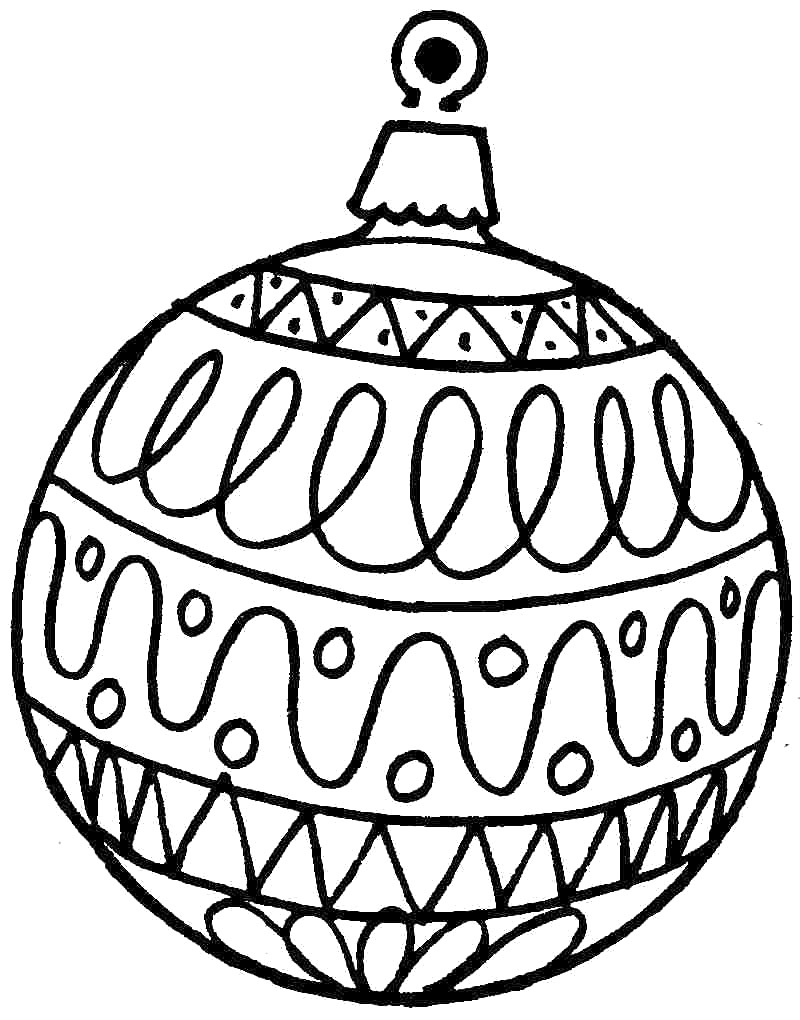 Drawn christmas ornaments coloring page  Pages Pages Easy Coloring