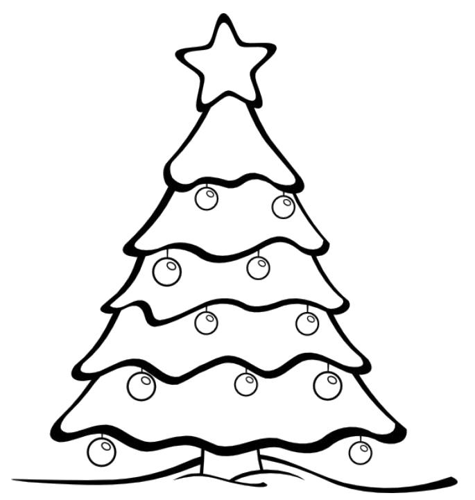Drawn christmas ornaments coloring page Coloring Coloring Kids Tree Christmas