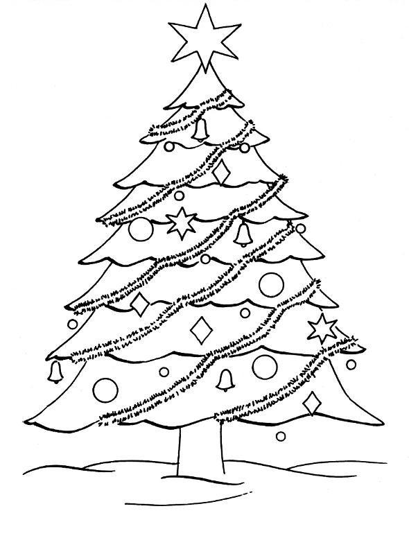 Drawn christmas ornaments coloring page Merry Pictures to Christmas Tree
