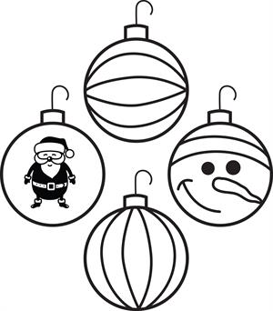 Drawn christmas ornaments coloring page Coloring for Ornaments Ornaments Christmas