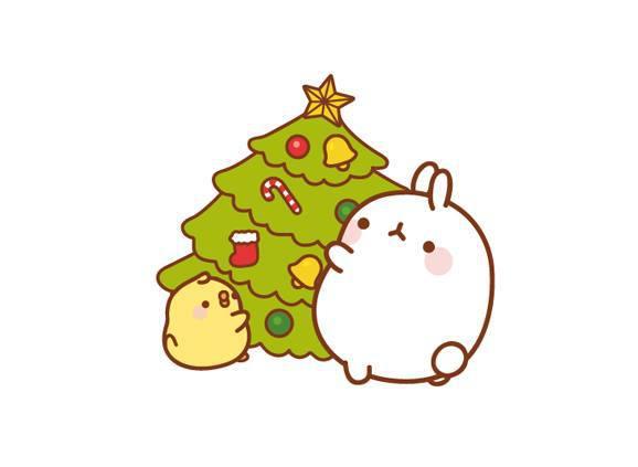 Drawn christmas ornaments cute Lovely  rabbit tree christmas