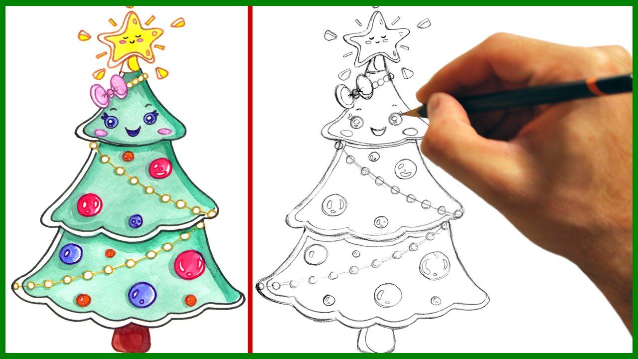 Drawn christmas ornaments cute Tree Cartoony Draw a Kawaii