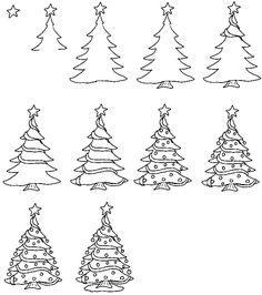 Drawn christmas ornaments ornate 3 Christmas of Tree Sets