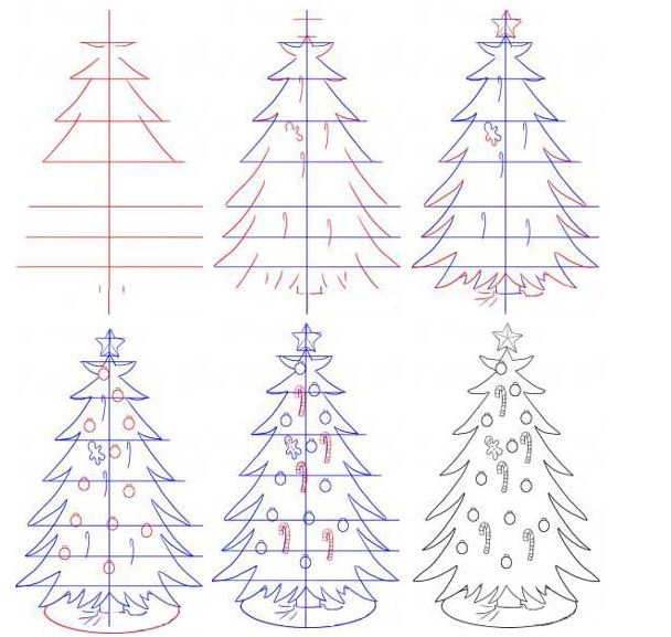 Drawn christmas ornaments step by step To & drawings Fest Step15