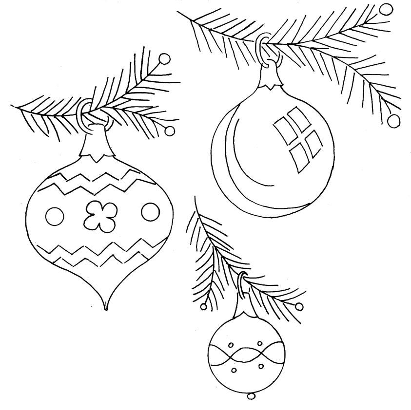 Drawn christmas ornaments vintage Christmas Transfers! Embroidery Christmas Vintage