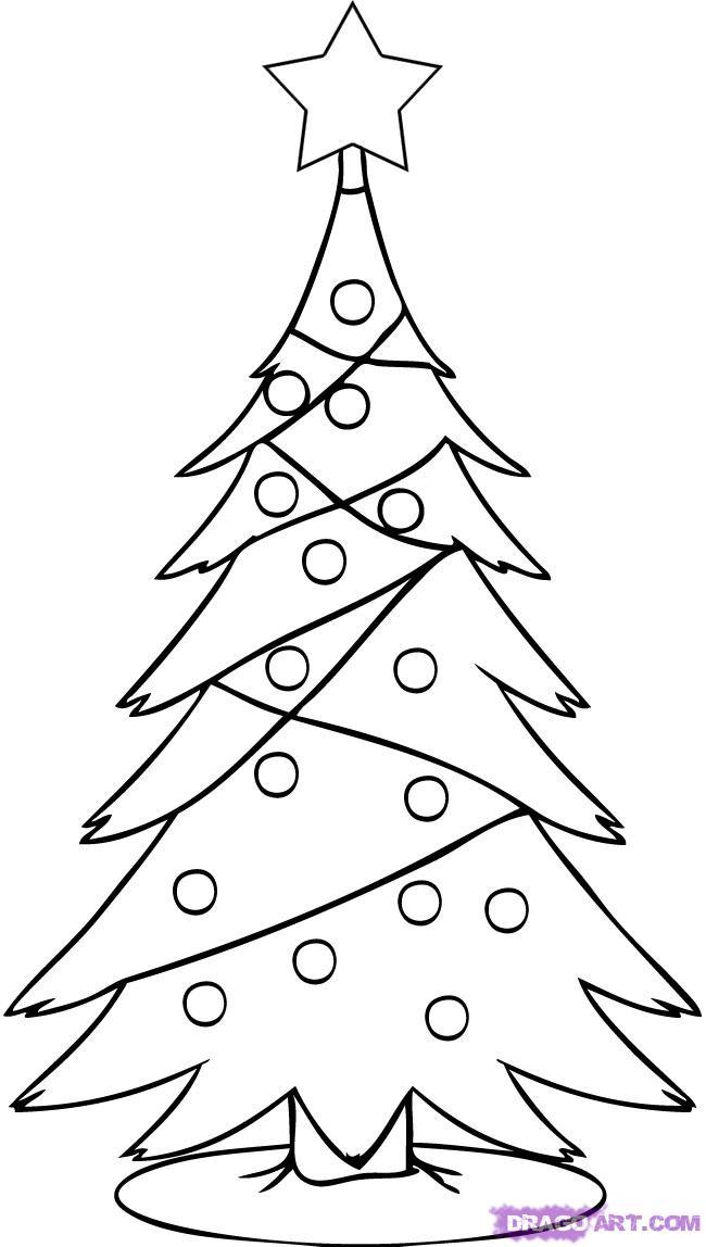 Drawn christmas tree A 4 tree Step Simple