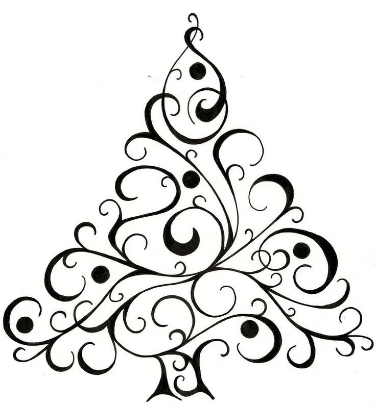 Drawn christmas tree For #drawing #Christmas on tree