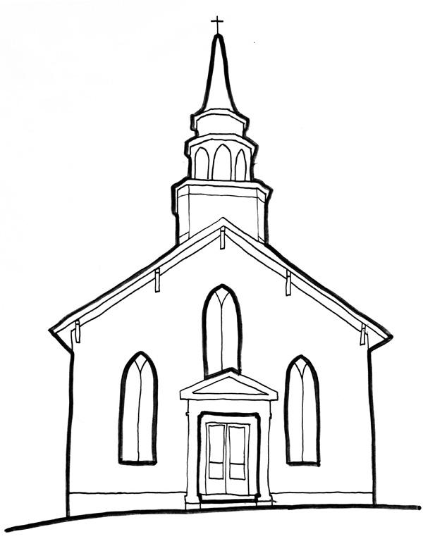 Drawn church  church christs art Fellowship