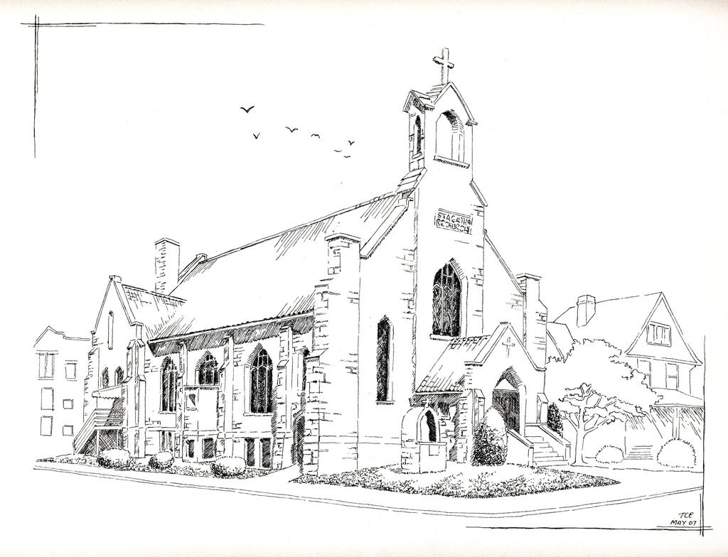 Drawn church St Church St agatha Agatha