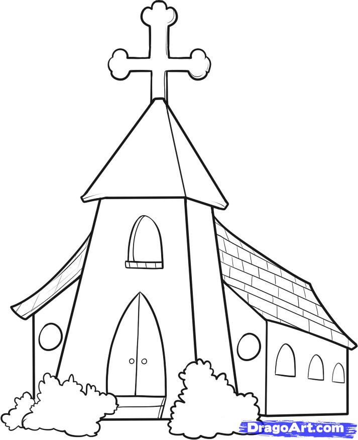 Drawn church A 7 church Ideas how
