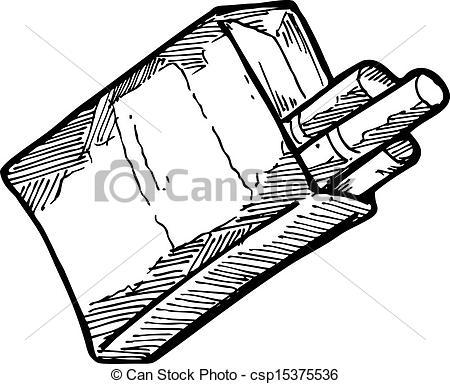 Drawn cigarette Hand cigarrette cigarrette; Art drawn