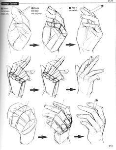Drawn smoke unique De Draw un cigarrillo Hands