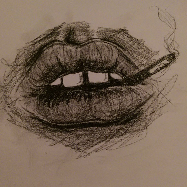 Drawn smoke tire Art kristinpoltermann cigarette smoking drawing