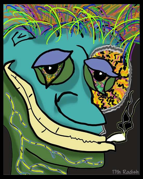 Drawn cigarette surreal #12