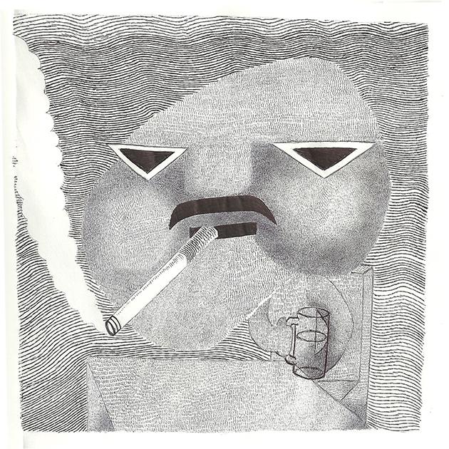 Drawn cigarette surreal #4