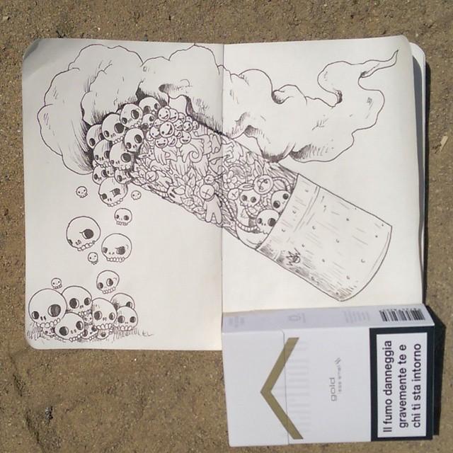 Drawn cigarette surreal #6