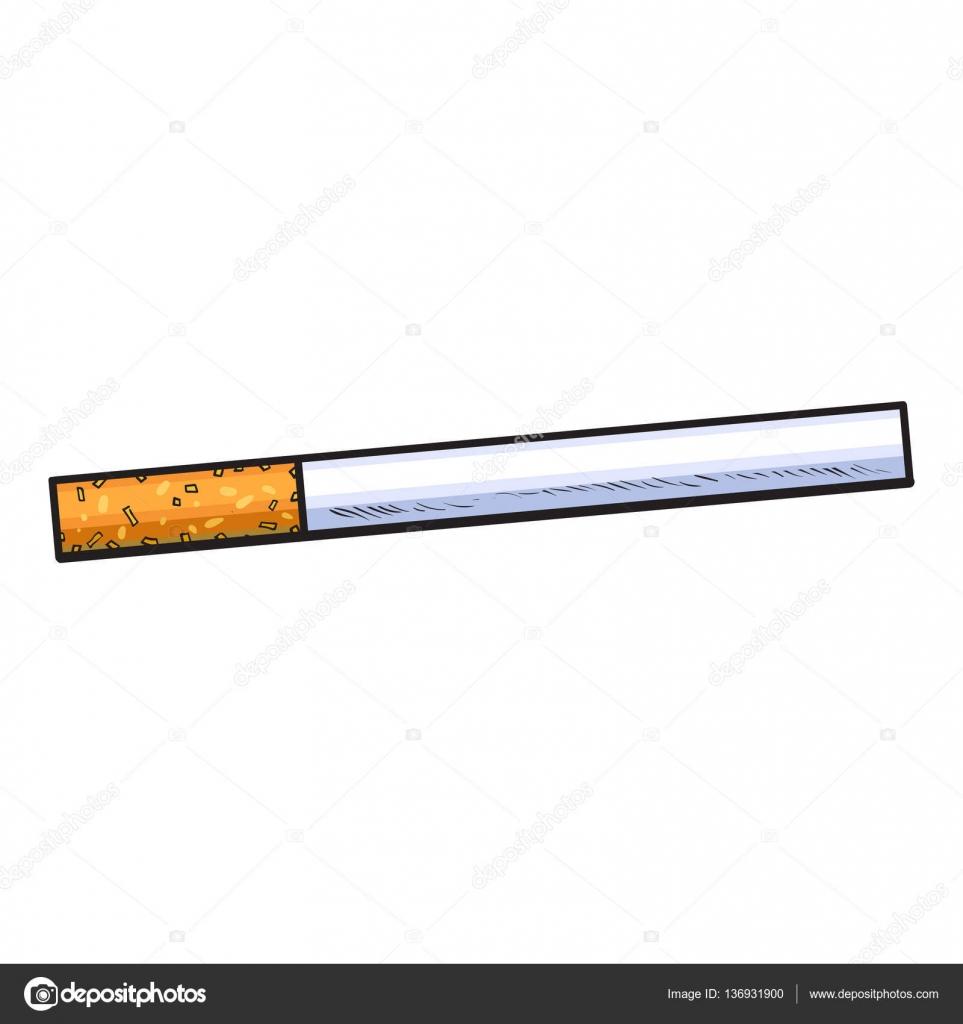Drawn cigarette unlit #6