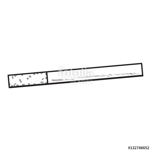 Drawn cigarette unlit #1