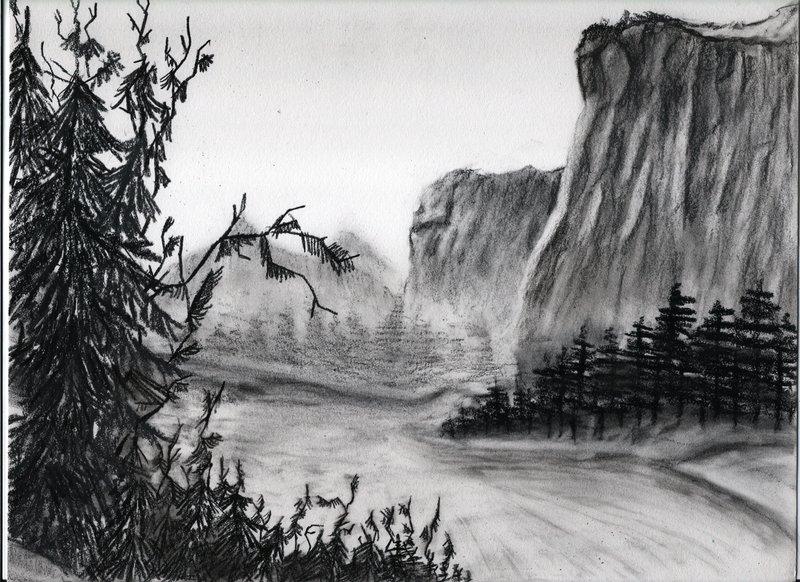 Drawn cilff Backgrounds × 1065 sketch illustration