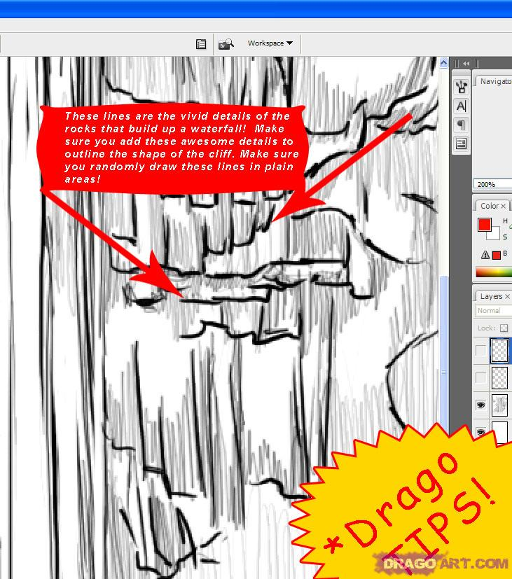 Drawn cilff easy To a How a Landscapes