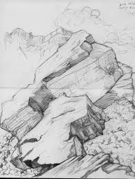 Drawn rock boulder Boulders draw how rocks realistic