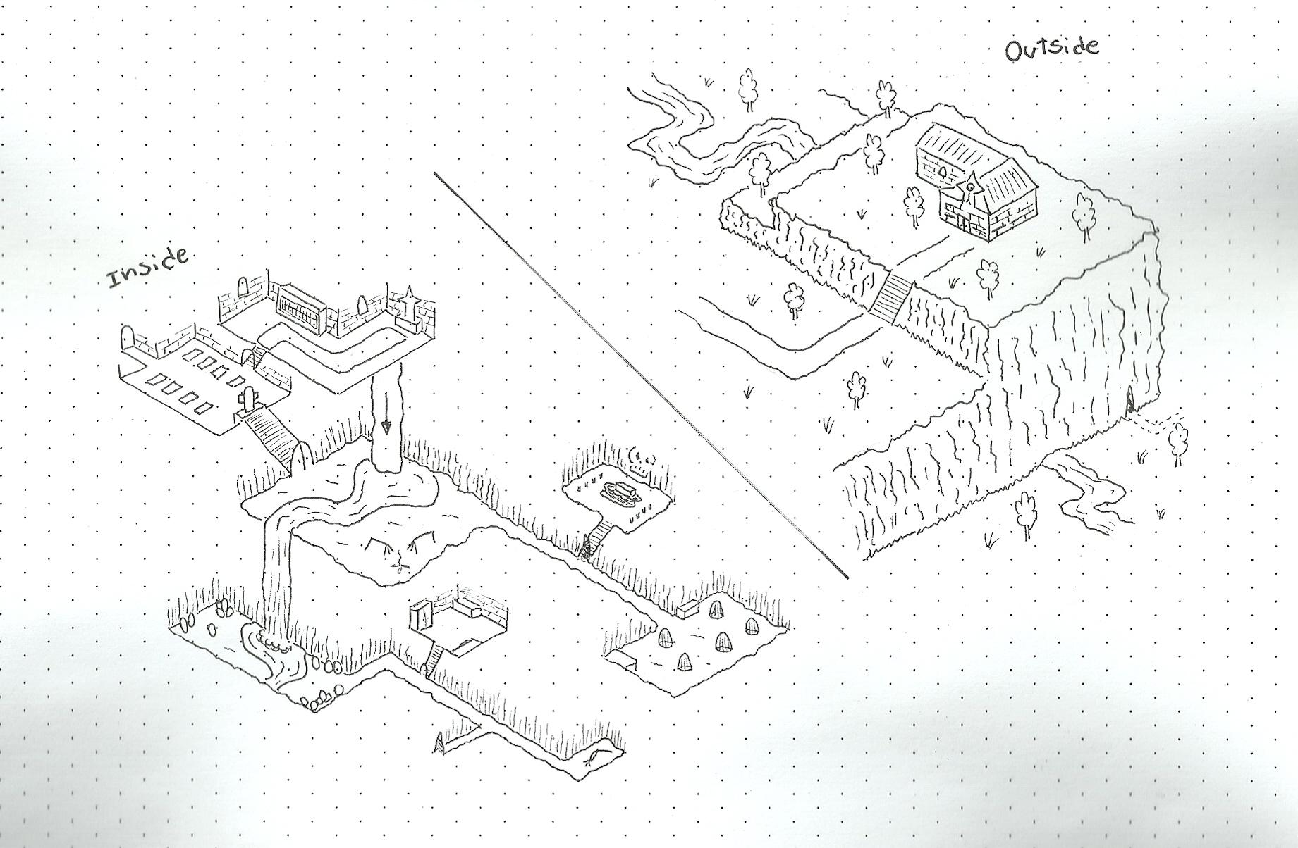 Drawn torch isometric #10