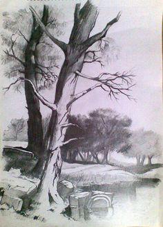 Drawn cilff landscape Landscape marshabookwalte Pinterest draw