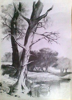 Drawn cilff landscape Tutorial Landscape marshabookwalte Drawing/Painting Pinterest