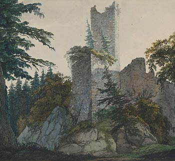 Drawn cilff landscape Britain Romantic from A aspects