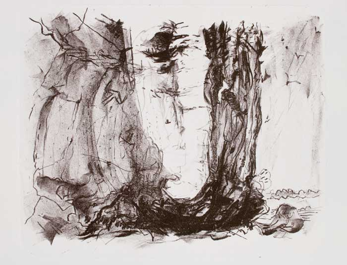 Drawn stone cliff face Rocks Cliffs falaise700 and