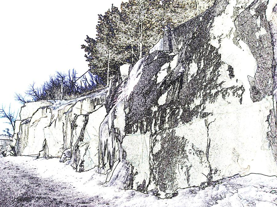 Drawn rock rocky landscape By Rocky Rocky by Phillips