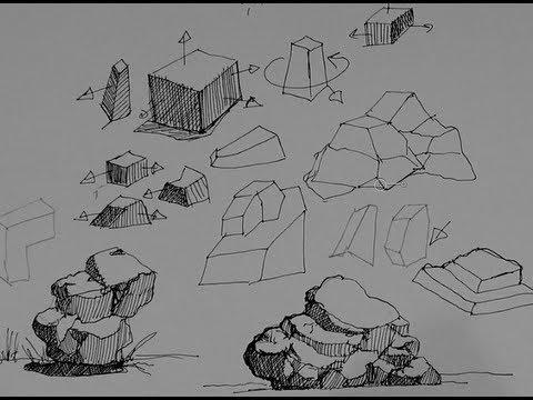 Drawn rock easy Rocks draw & to How