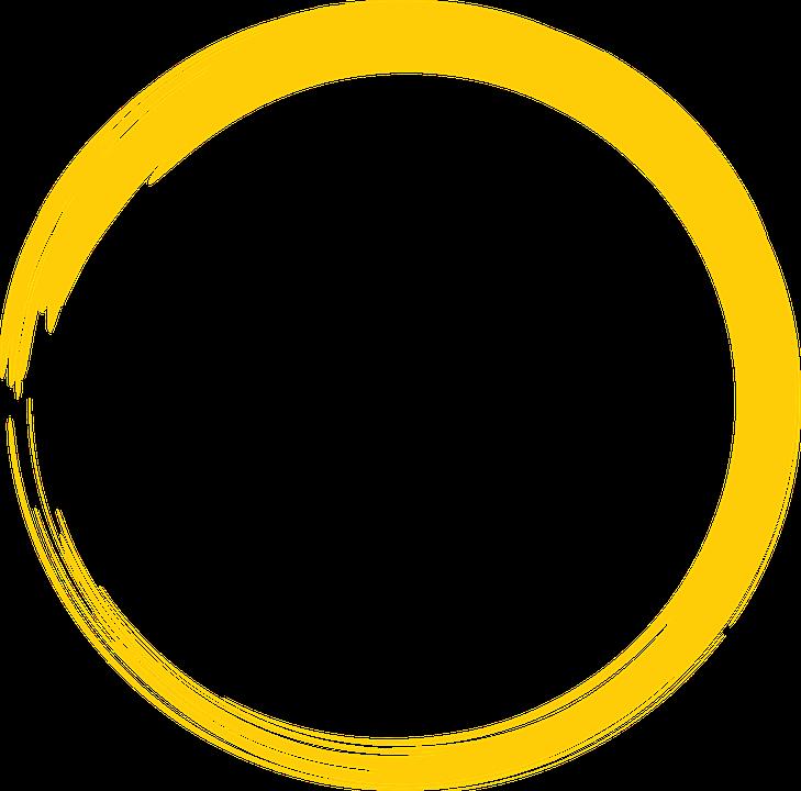 Circle clipart yellow circle Vector Round Image Pixabay Paint