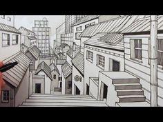 Drawn city View YouTube City Street to