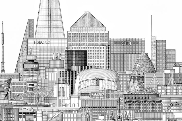 Drawn city Drawing City's  Towers Drawing