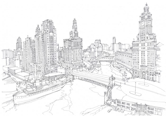 Drawn cityscape #6